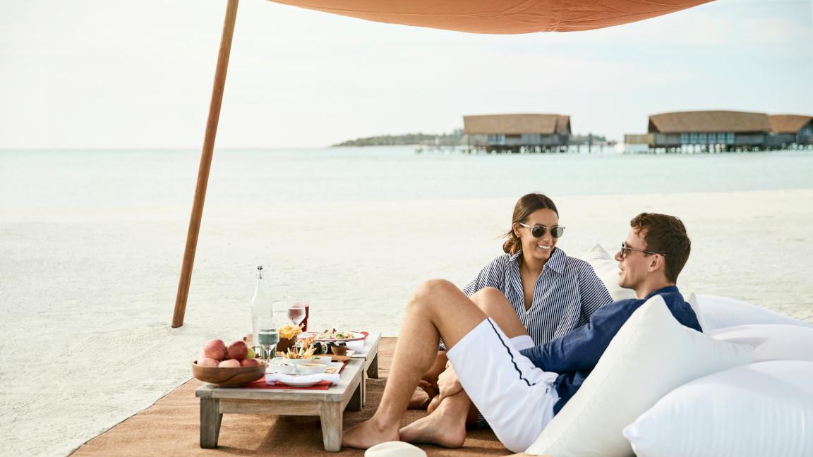 Cocoa Island Malediven Picknick auf einer Sandbank