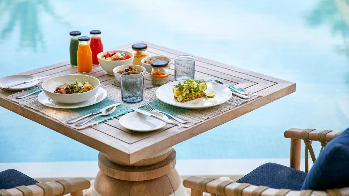 Cocoa Island Malediven Frühstück im Restaurant Ufaa