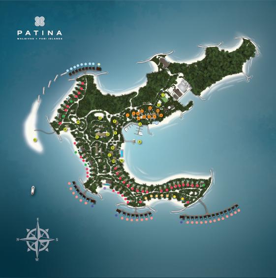 Resortplan PATINA Maldives