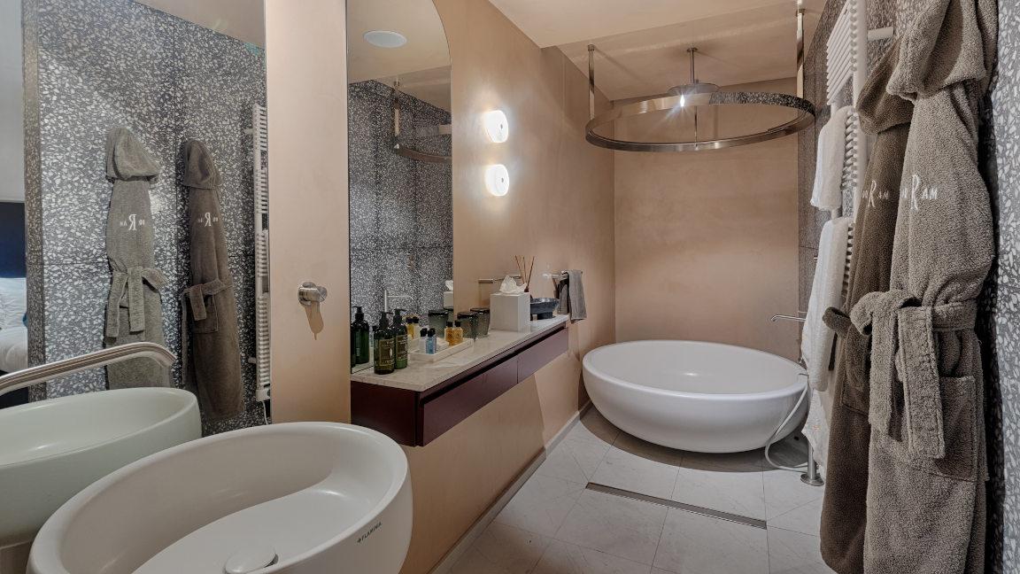 Badezimmer Hotel Rosselli, Malta