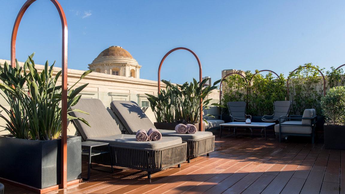 Dachterrasse Hotel Rosselli Malta
