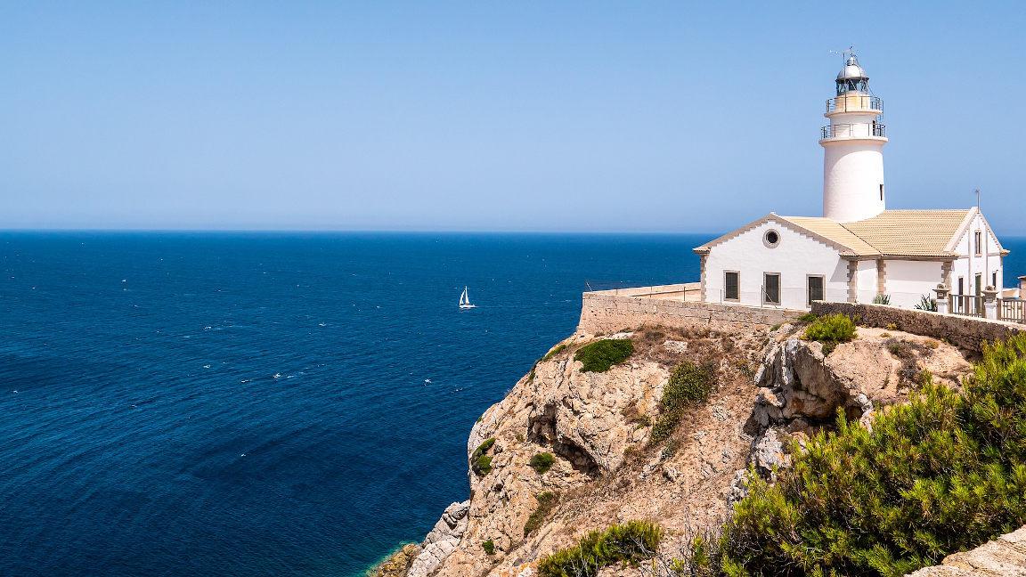 Leuchtturm am Cap Formentor auf Mallorca