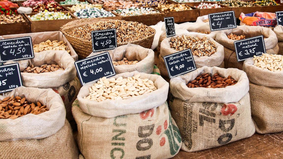Verkauf von Mandeln auf Mallorca