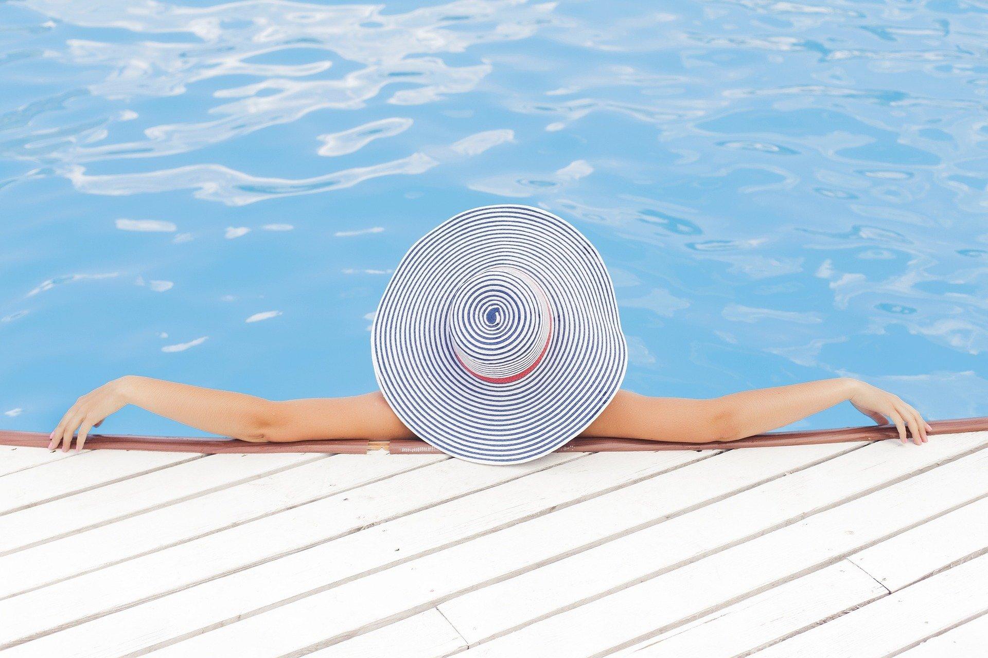 Entspannt im Pool